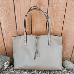 Calvin Klein Gray Oversized Shoulder Tote
